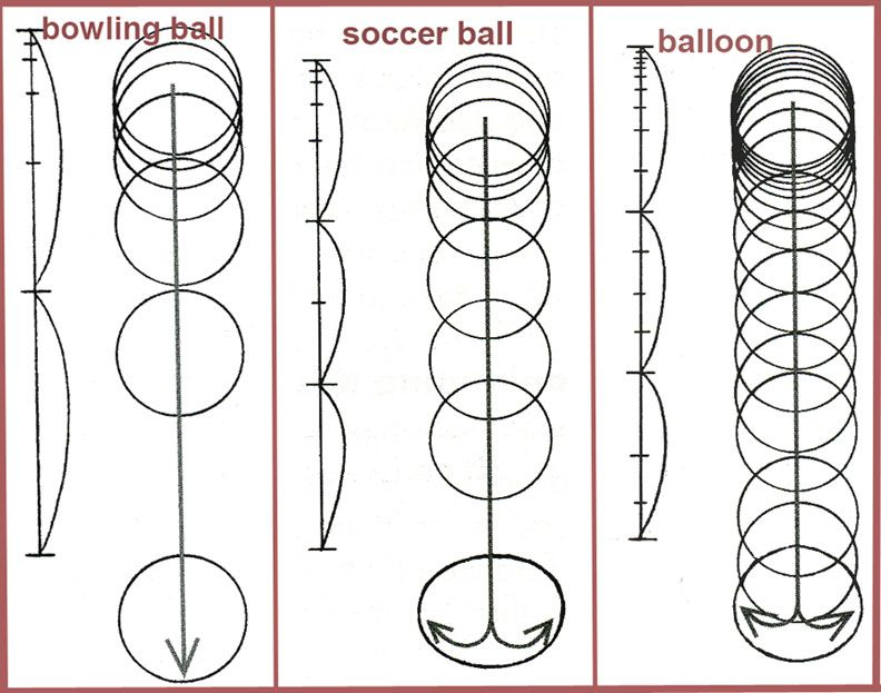 Balls comparison Animation Reference and Inspiration Pinterest - vertical storyboard