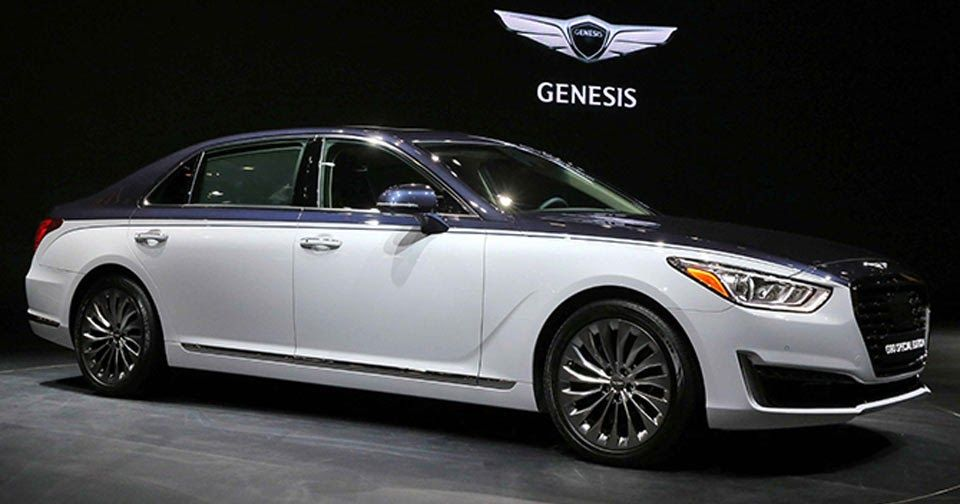 Genesis G90 Special Edition Looking More Like A Bentley Carscoops Hyundai Genesis Bentley Genesis