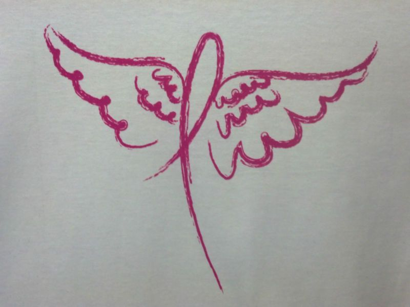 Pink Ribbon W Angel Wings Breast Cancer Awareness Item Support S 5x