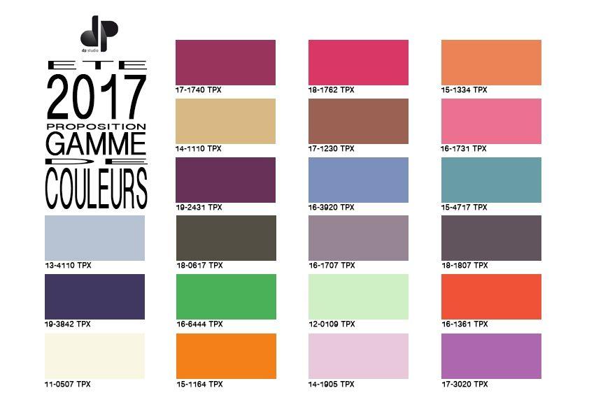 Gamme de couleurs pour les tissus du printemps t 2017 tendances ete 2017 pinterest - Couleurs tendance ete 2017 ...