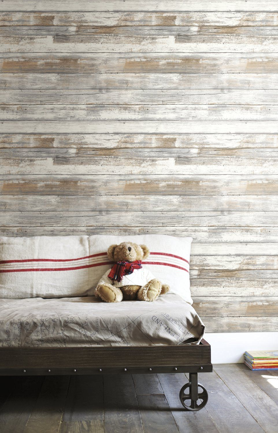 Little Big Life You Can Use Patterns In A Tiny House Vertical Or Horizontal Lines Are Perfect Distressed Wood Wallpaper How To Distress Wood Home Decor