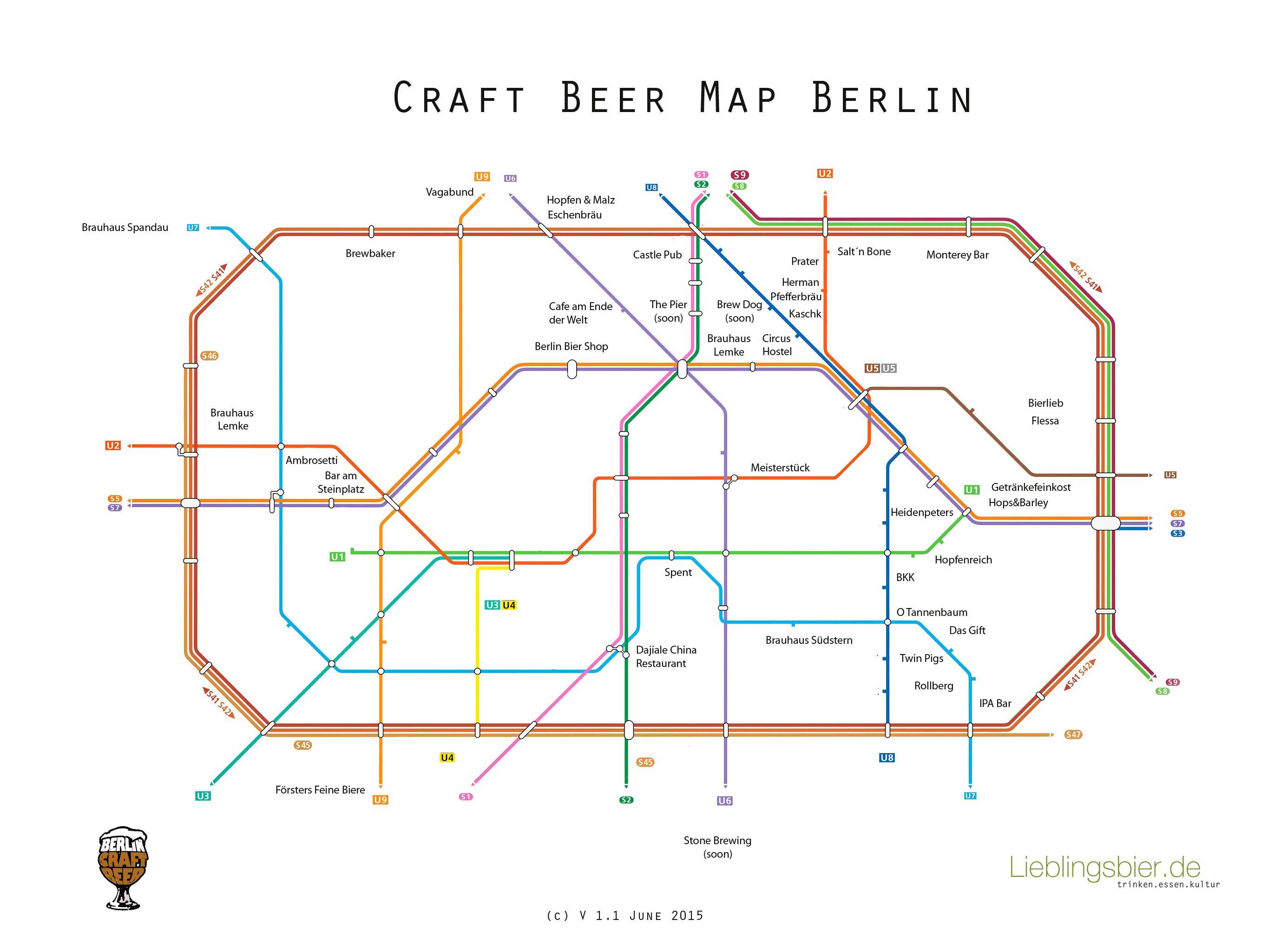 Craft Beer Map Berlin Berlin Craft Bier Leben In Berlin