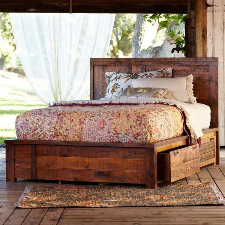 Fun Ways to Repurposed the Used Wood Pallets Wood beds, Make a bed