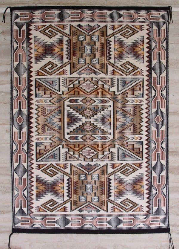 Raised Outline Navajo Weaving