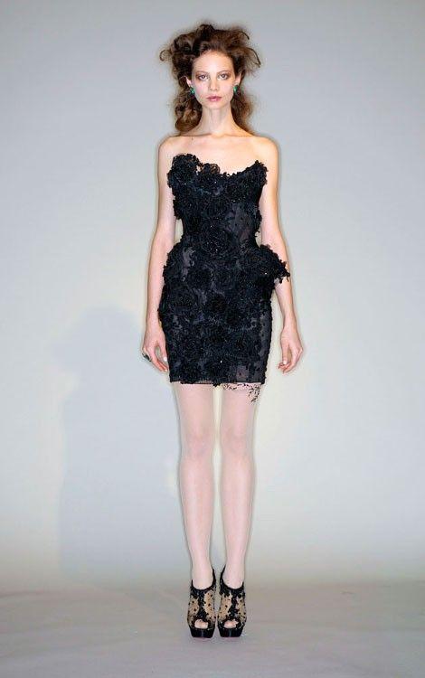 A princess amongst black dresses--LOVE the intricate details!!