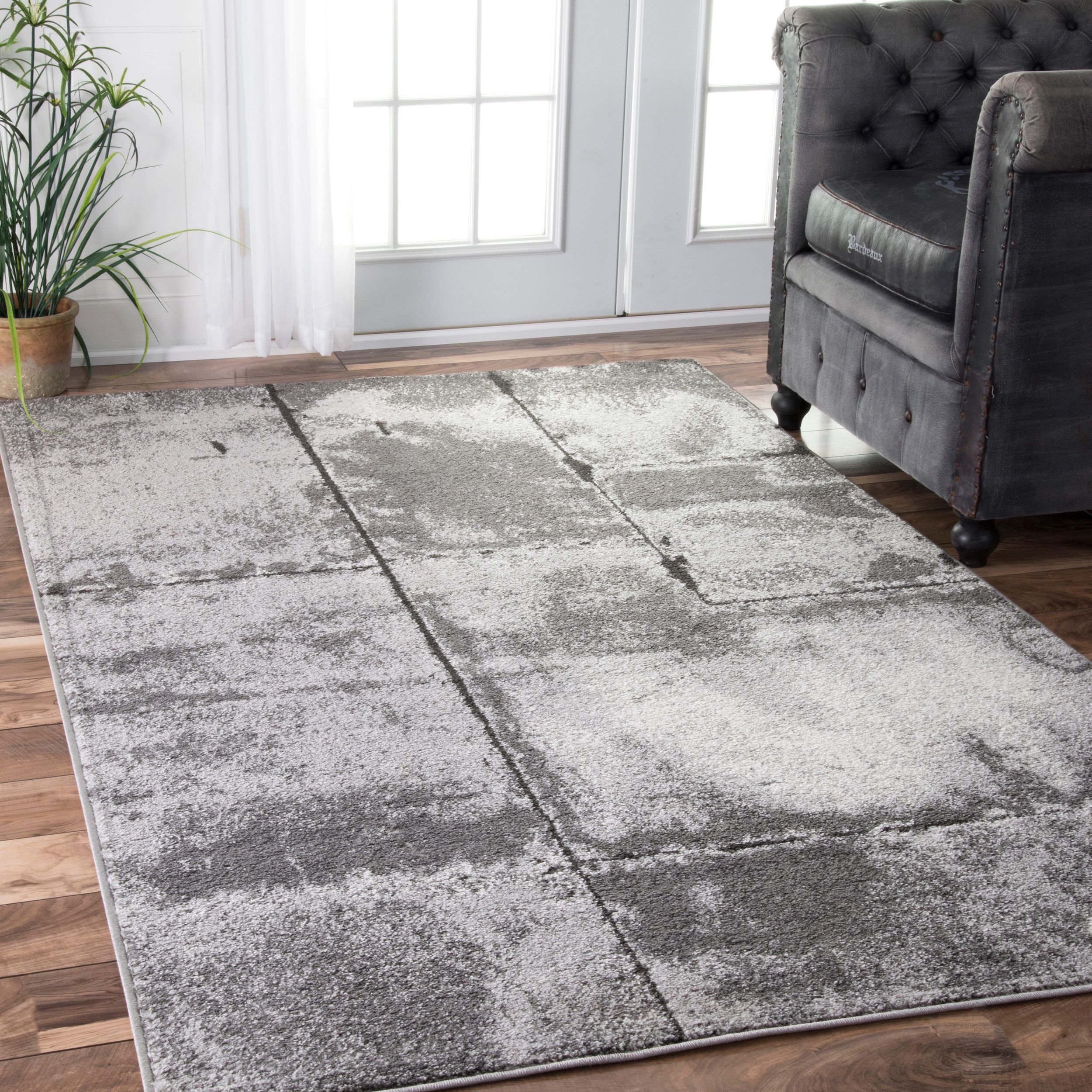Nuloom Contemporary Granite Grey Rug X Size Plastic Solid