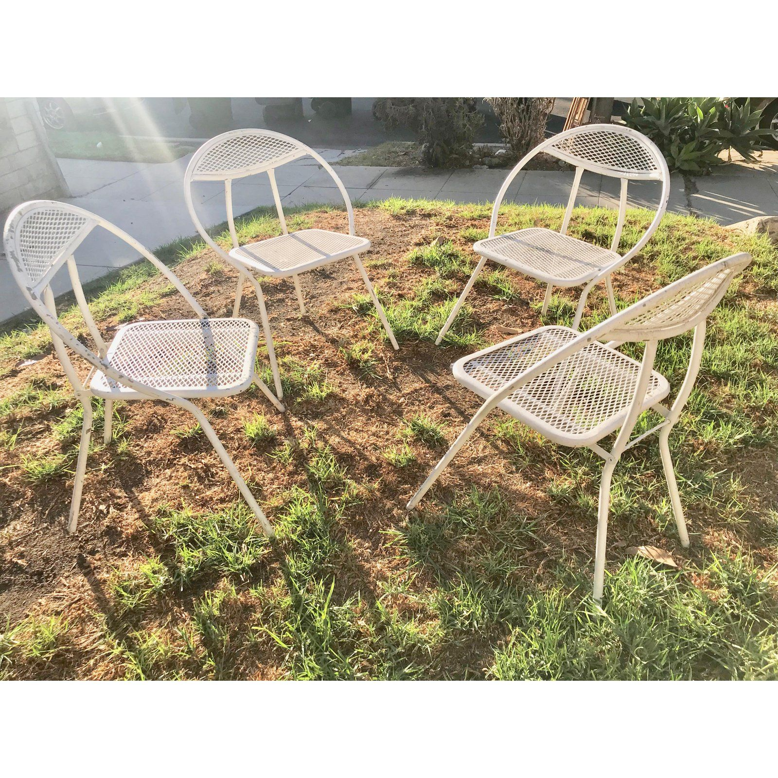 1960s Mid Century Modern Salterini Patio Dining Set 5 Pieces