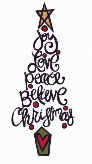 Free download of Christmas Tree doodle -) by C@rol zentangle - christmas tree words