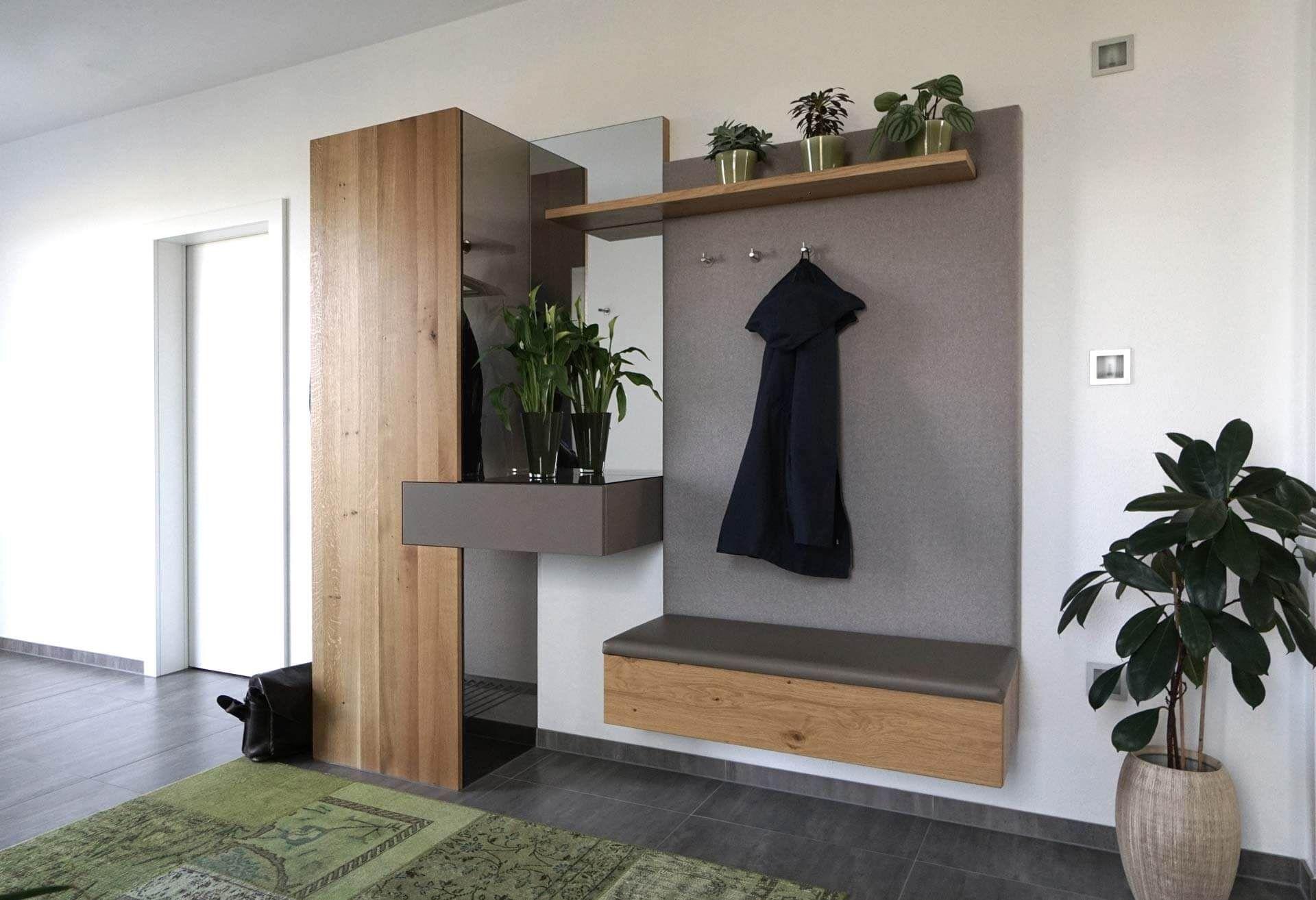 Garderobe, Modern, Eiche, grau, Loden Garderobe modern