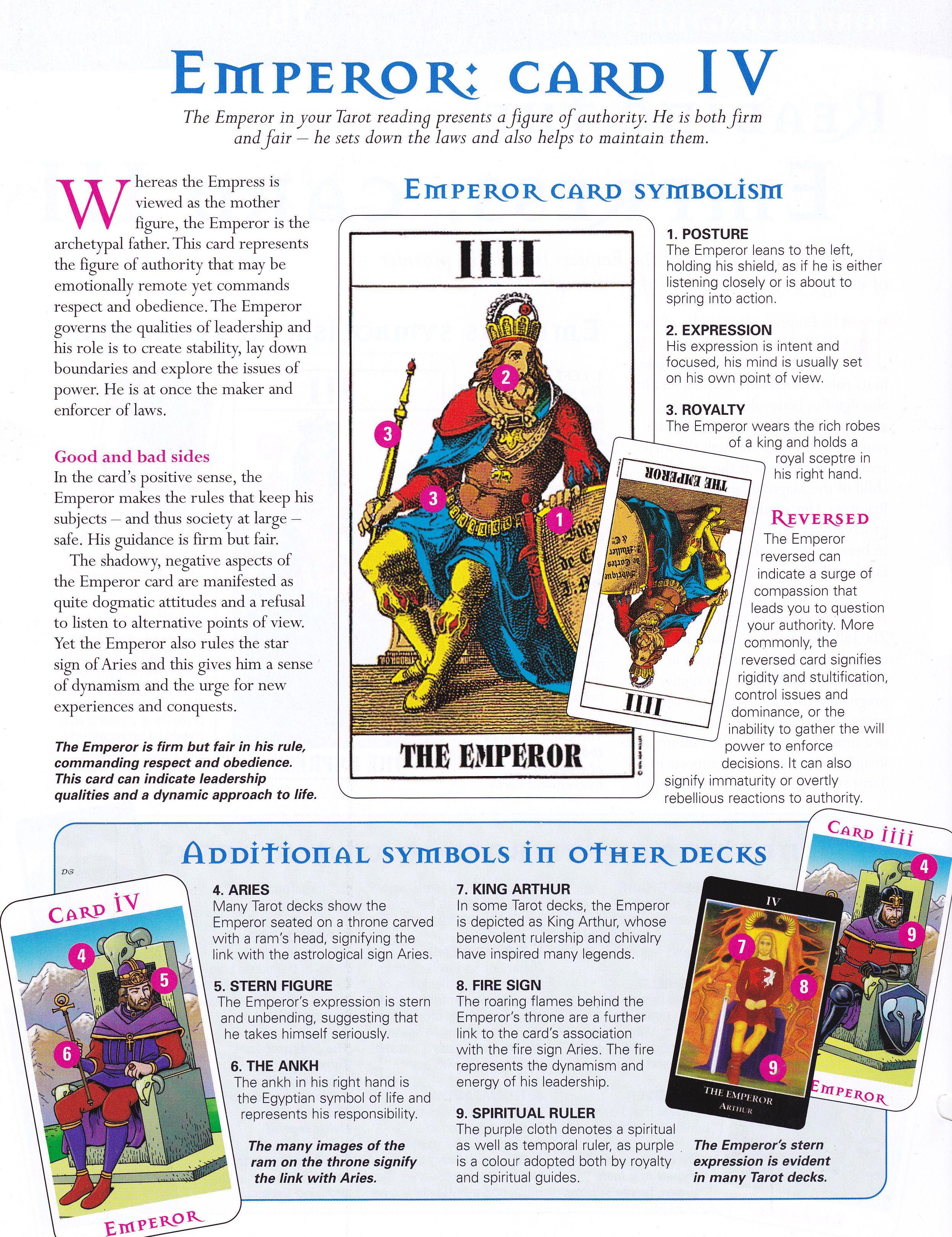 Tarot Reading The Emperor Card