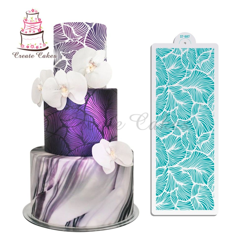 Peacock Lace Stencil Wedding Cake Design Plastic Template Mold Painting Stencil#