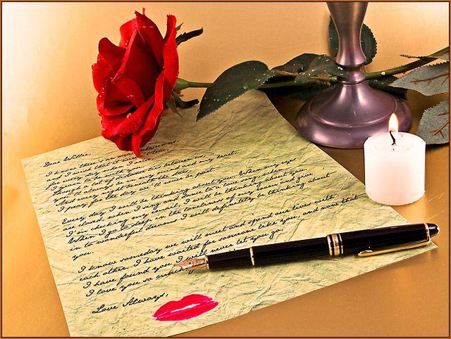 Writing a love letter Genre romantic comedy Pinterest – Writing Romantic Letters