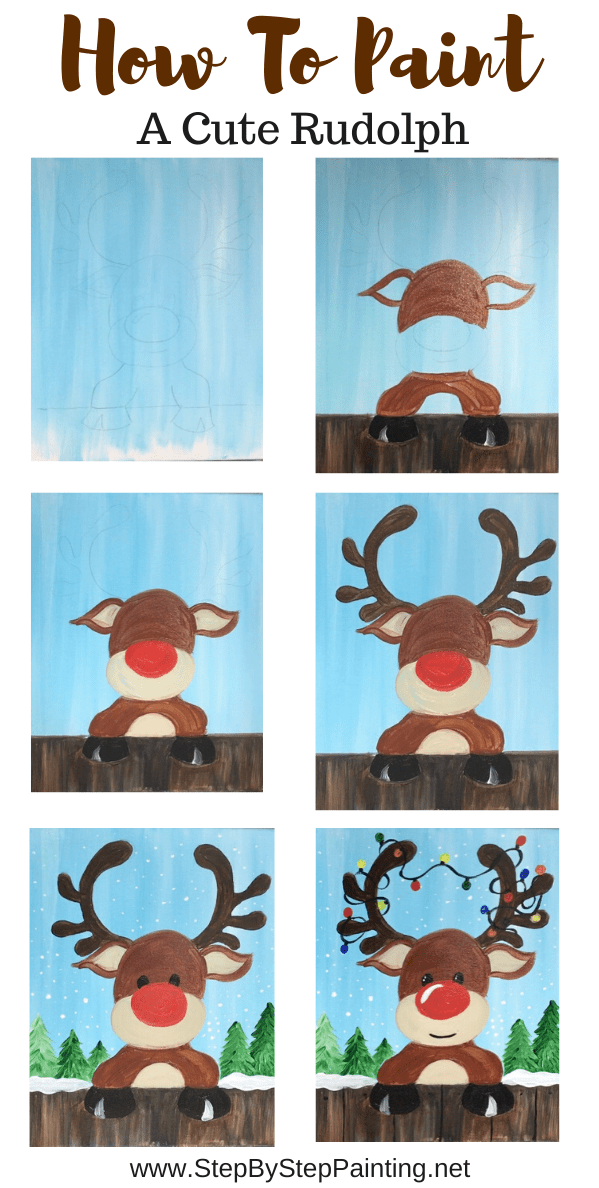 Photo of How To Paint A Cute Rudolph – Step By Step Painting
