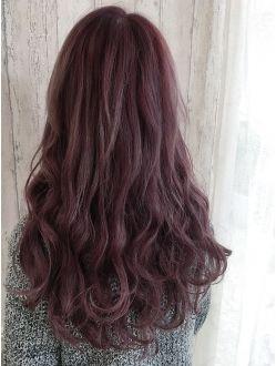 バイオレットピンク バイオレット ヘアカラー 髪色 ピンク