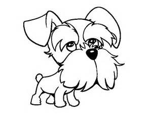 Schnauzer Coloring Page Coloringcrew Com Puppy Coloring Pages