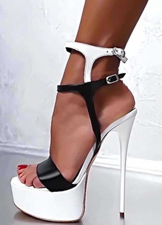 best service arrives low cost 16CM High Heel Platform Sandals #Hothighheels | Stiletto heels ...
