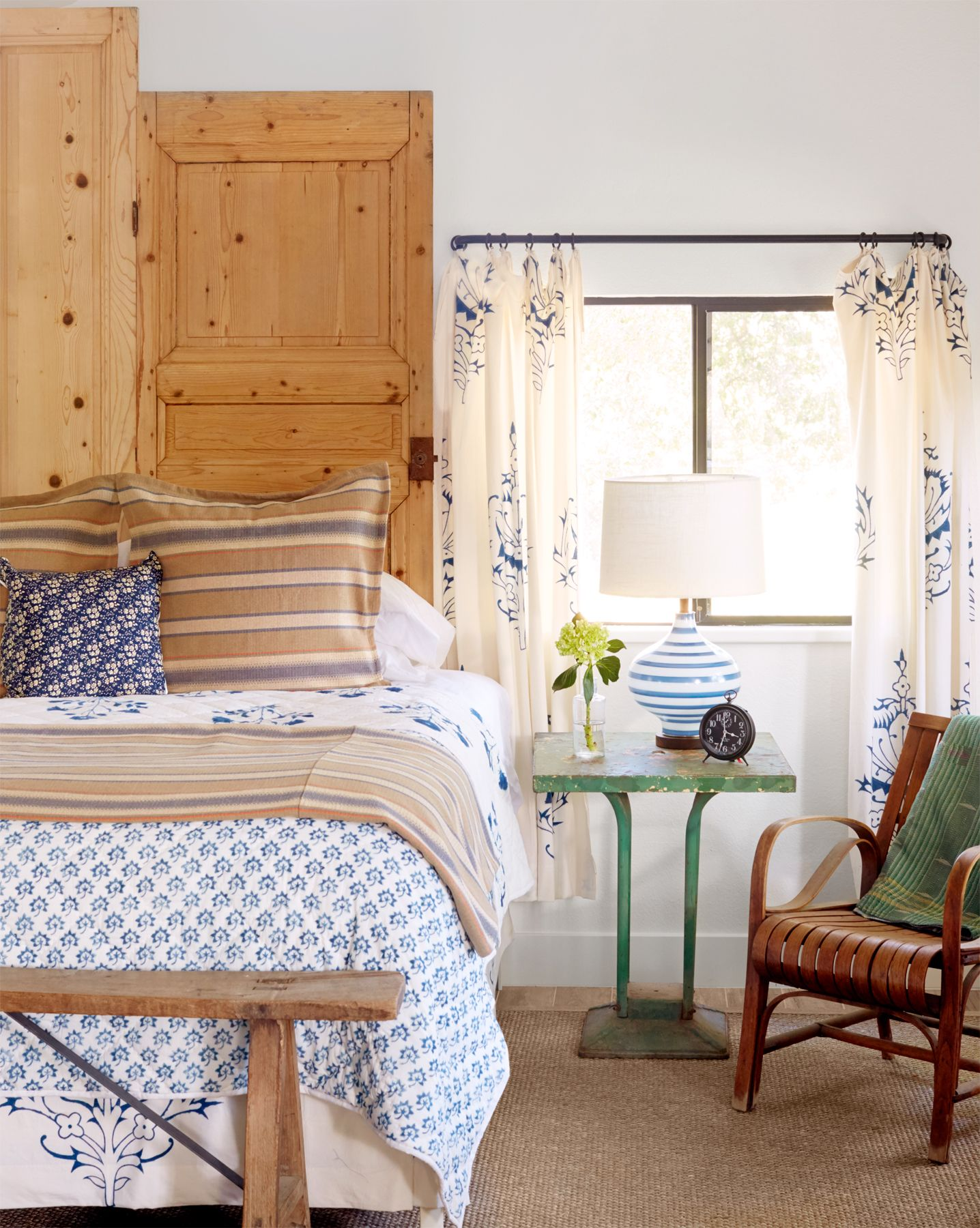 Low Headboard For Under Window Inside A Stunning California Wine Country Cottage Bedrooms