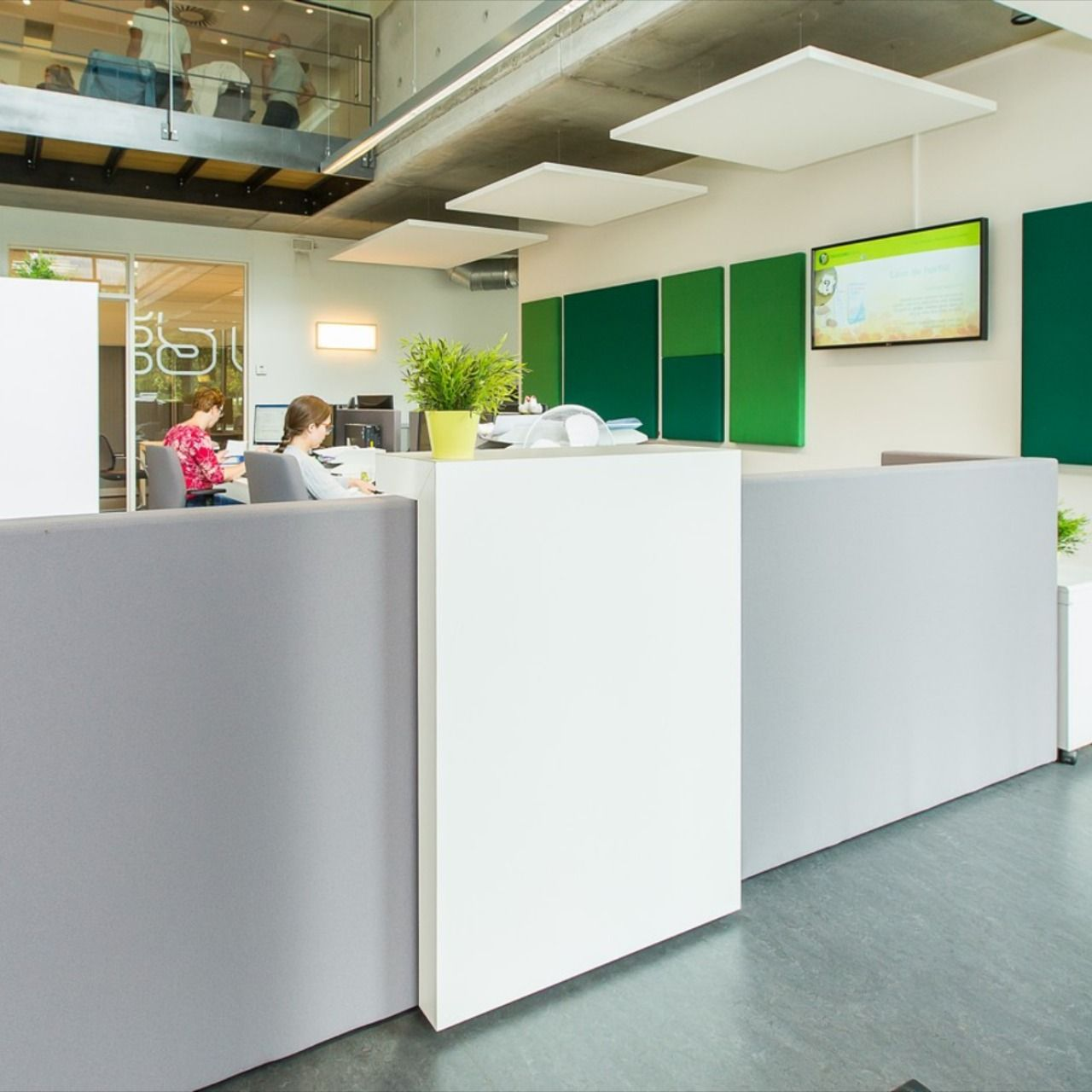 Office Receptiondesign: Ply Reception Desk In 2020