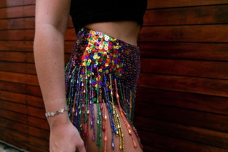 f65a7072bf Colorful Sequin Festival Shorts with Multi Color Tassels, Rainbow Dotty  Sequin Tassel Shorts, Hot