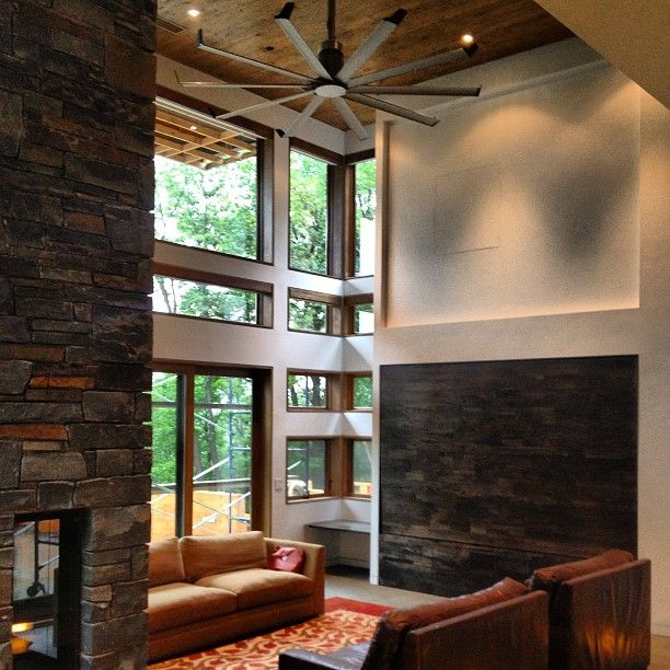 River banks residence living room with isis by big ass fans big river banks residence living room isis fan by big ass fans mozeypictures Image collections
