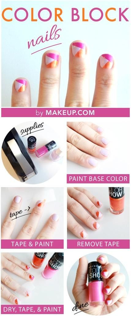 12 ways to make colorful nails with scotch tape scotch tape 12 ways to make colorful nails with scotch tape prinsesfo Gallery