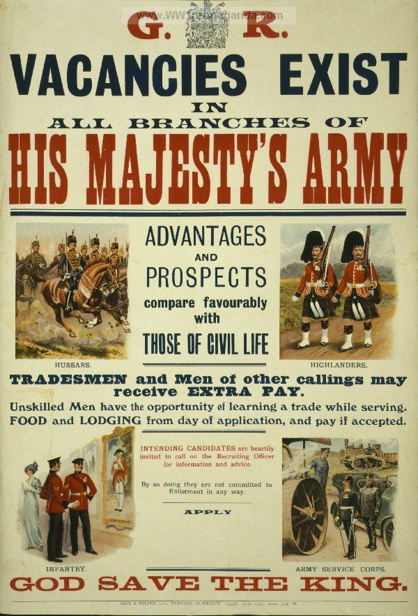 W96 Vintage WWI British London Rifle Brigade Recruitment Poster WW1 A1 A2 A3