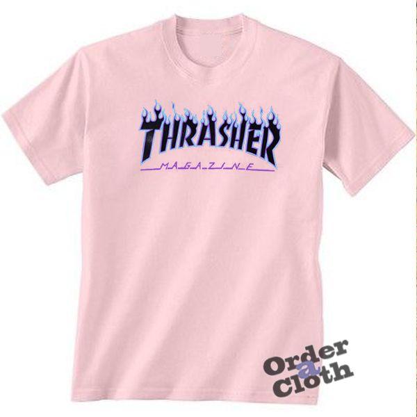 26f432a0 Thrasher blue flame t-shirt in 2019   Clothing   T shirt, Shirts ...