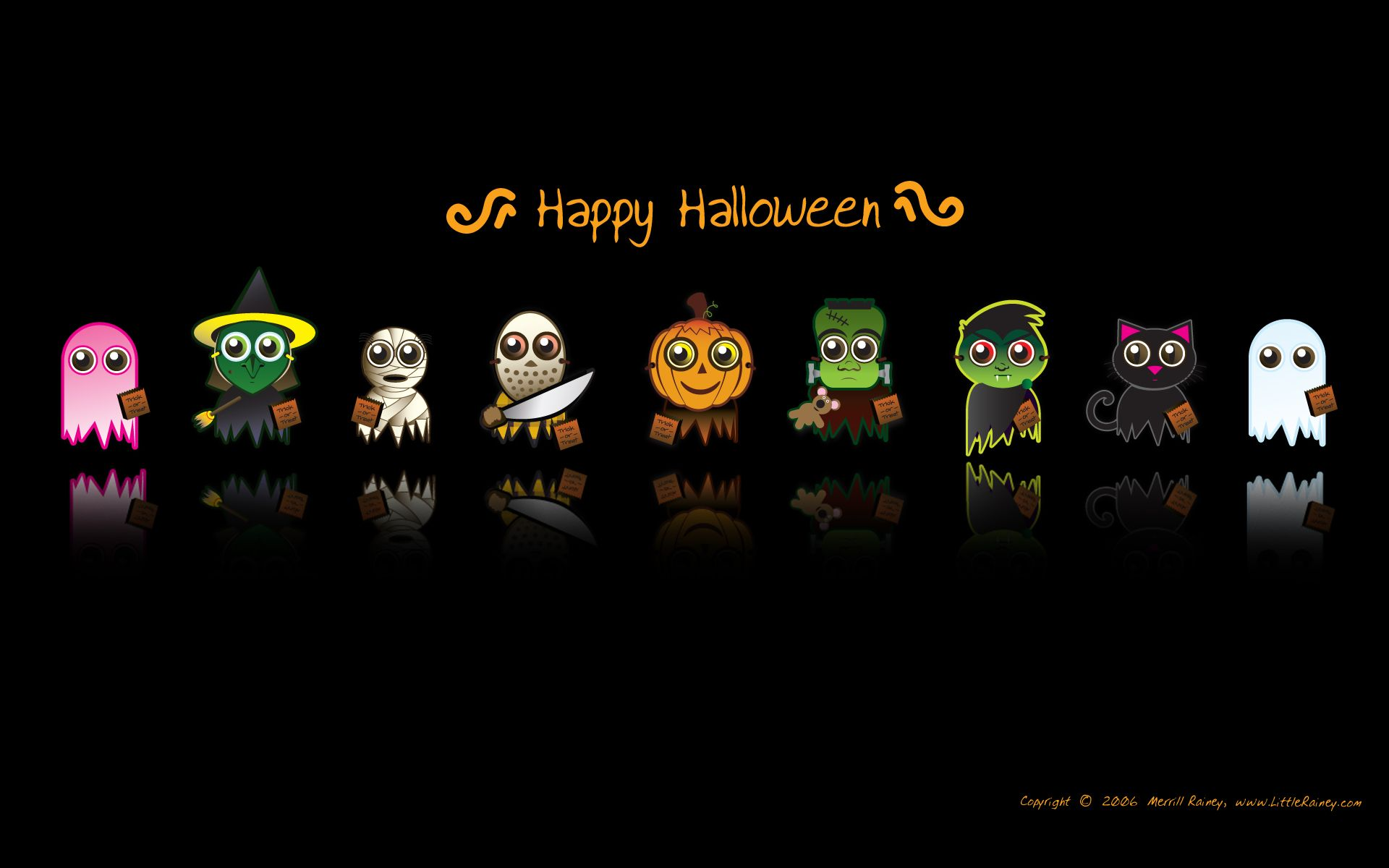 Cute Halloween Themed Background