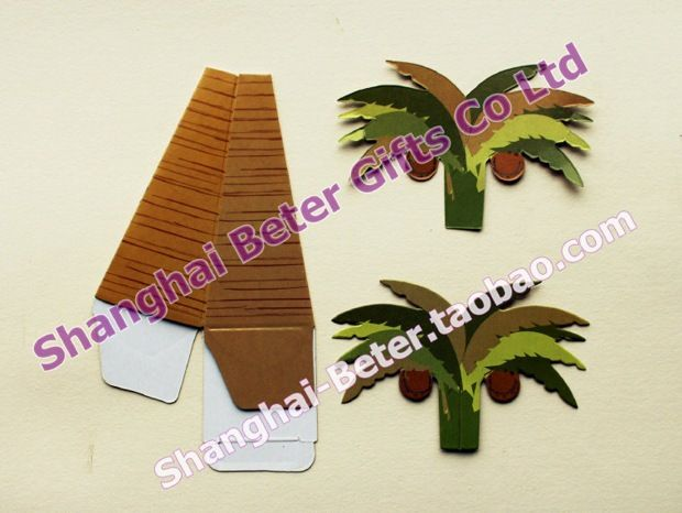 Palm Tree Favor Box       #BabyShowerStuff #BabyShowerIdeas #BoyBabyShower #beterwedding