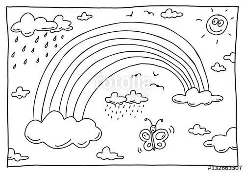 Regenbogenmalvorlagen Ausmalbild Regenbogen Stockfotos Und Lizenzfreie Bilder Auf Fotolia Vorlagen