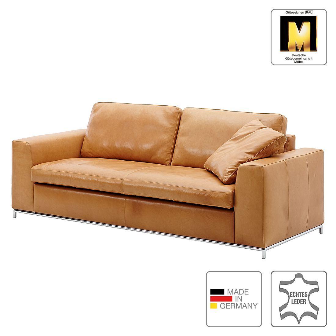 sofa concept102 m 2 5 sitzer echtleder cognac 1. Black Bedroom Furniture Sets. Home Design Ideas