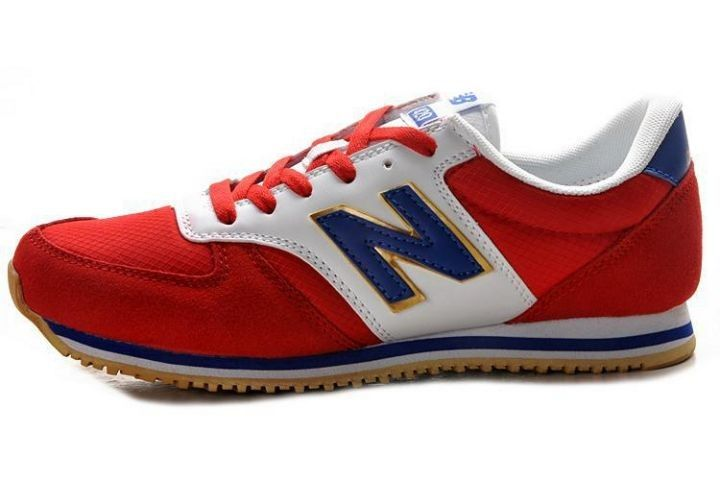 New Balance (NB) 420 Suede Dames Rood Wit Koninklijk Goud Running  Schoenen,Order popular and super sneakers here would bring you big surprise.