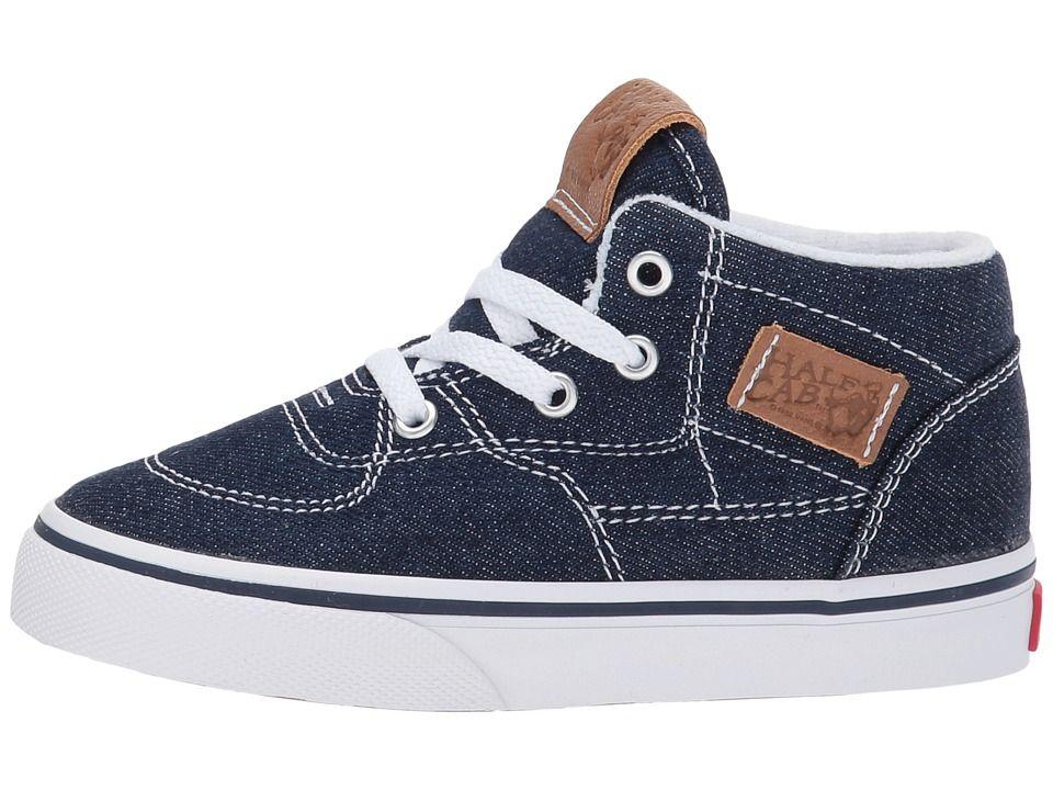b0825000f6 Vans Kids Half Cab (Toddler) Boys Shoes (Denim C L) Dress Blues Chipmunk