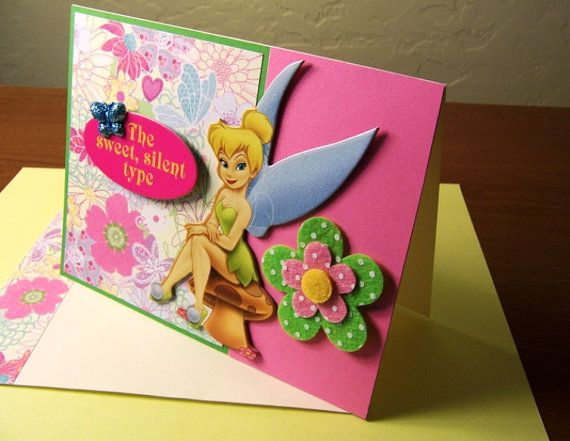 Tinkerbell Birthday handmade card by PrettyPaperPusher on Etsy – Tinkerbell Birthday Card