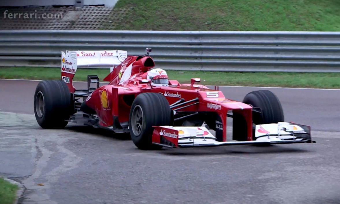 Sebastian vettel driving scuderia ferrari f1 car for the first time watch the video here