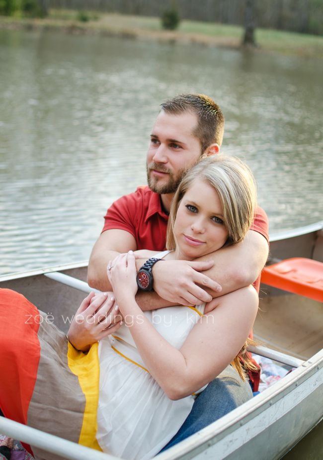 Amanda and Matt: Canoe Engagement Session, Searcy AR »