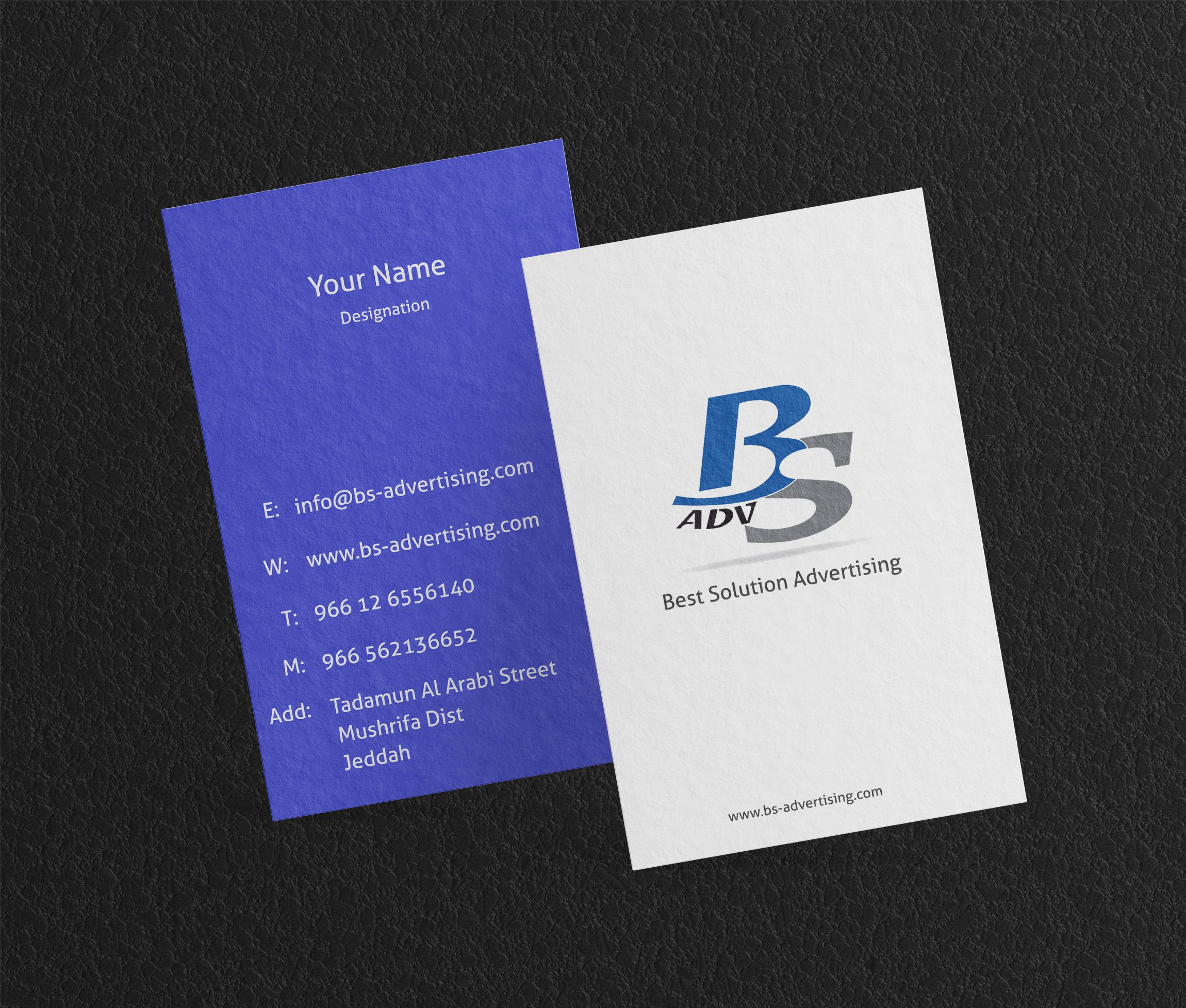 Business Card Designing Printing Business Card Design Advertising Services Card Design