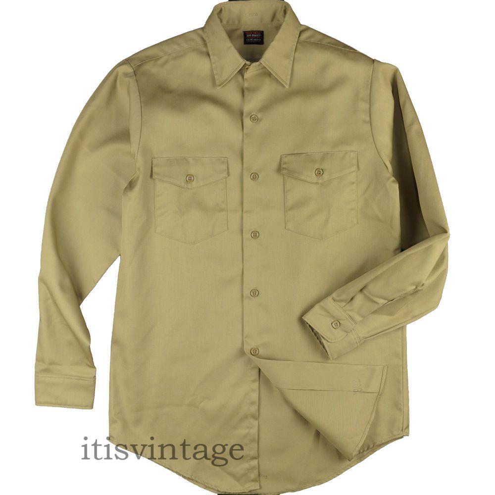 Lee Tech Twill Shirt 1960 S Vintage Workwear Sport Utility Button Down Medium M Lee Itisvintage Tech Twill 60s Workwear Twill Shirt Work Wear Mens Outfits