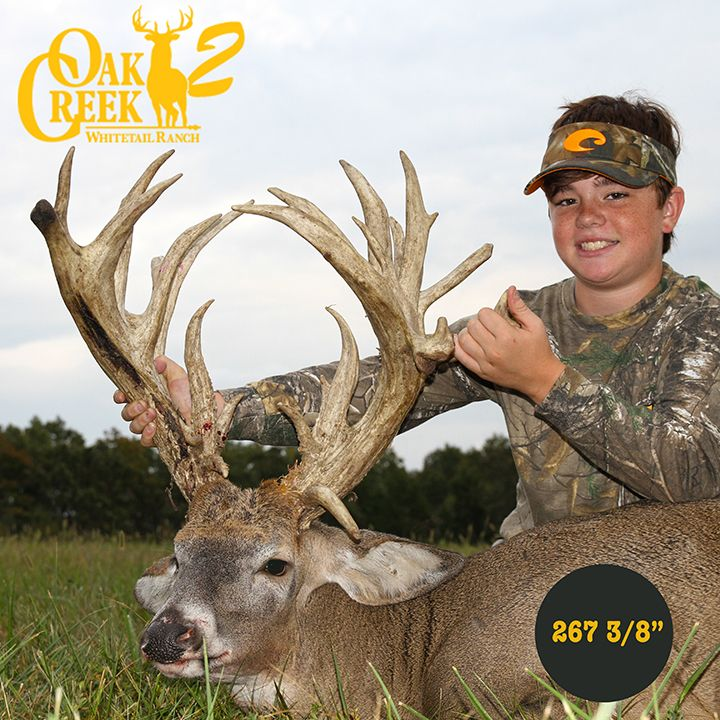 Every hunter dreams of bucks like the one this young hunter harvested this year. 573-943-6644
