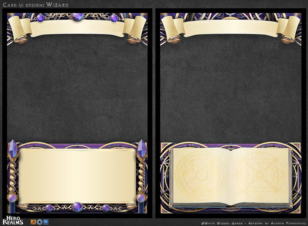 Artstation Card Design Antonis Papantoniou Card Design Diy Tarot Cards Trading Card Template