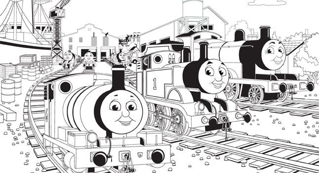 Thomas and Friends Coloring Page . Birthday Party . PBS Parents ...