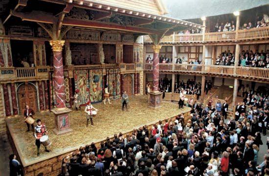 Vista Lateral Interna Com Imagens Shakespeare Londres Teatro