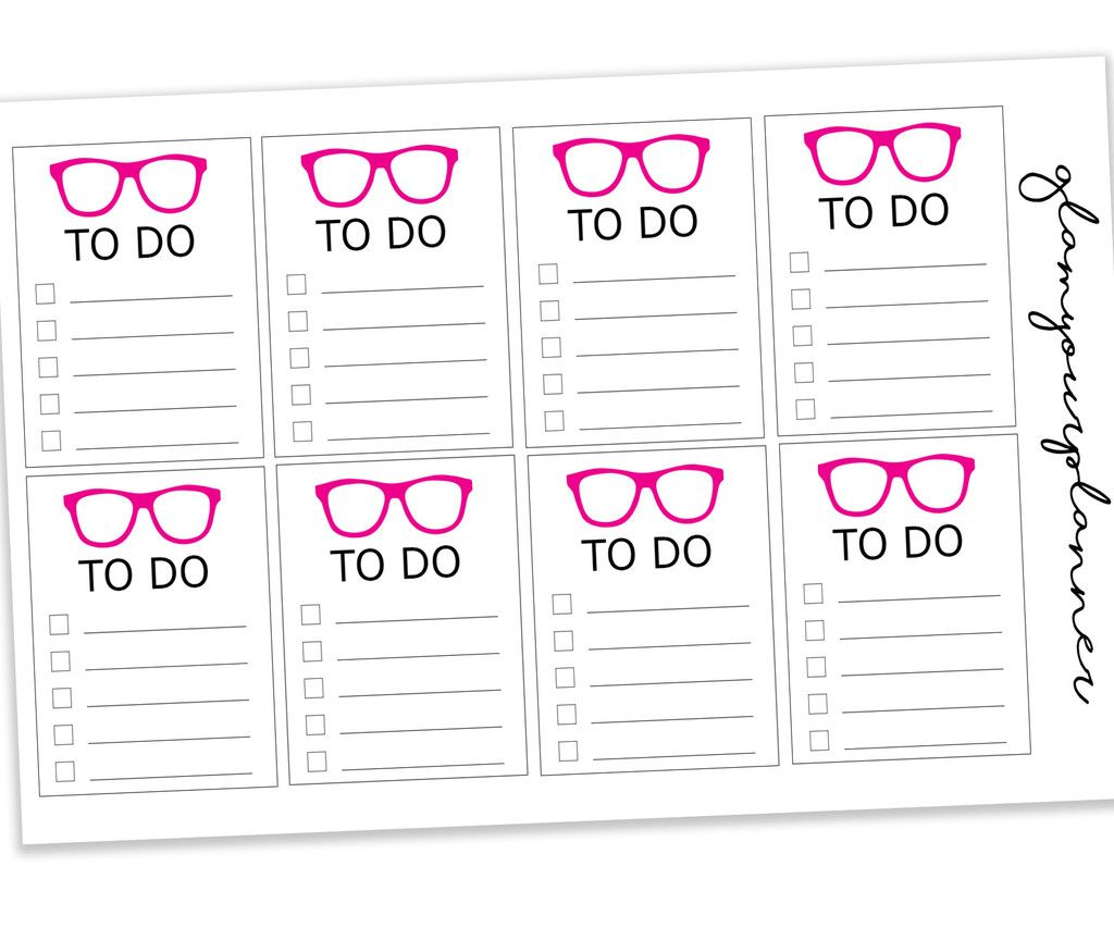 To Do Stickers  Plan In Pink Planner Stickers Daily Checklist