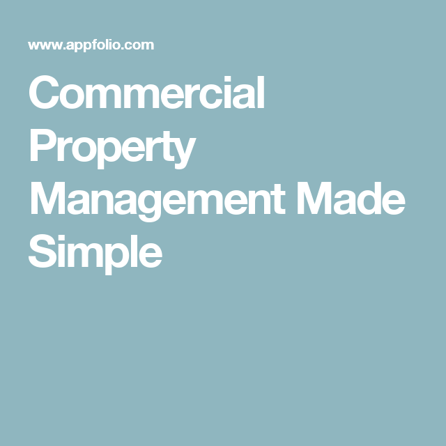 Commercial Property Management Made Simple  Property Management