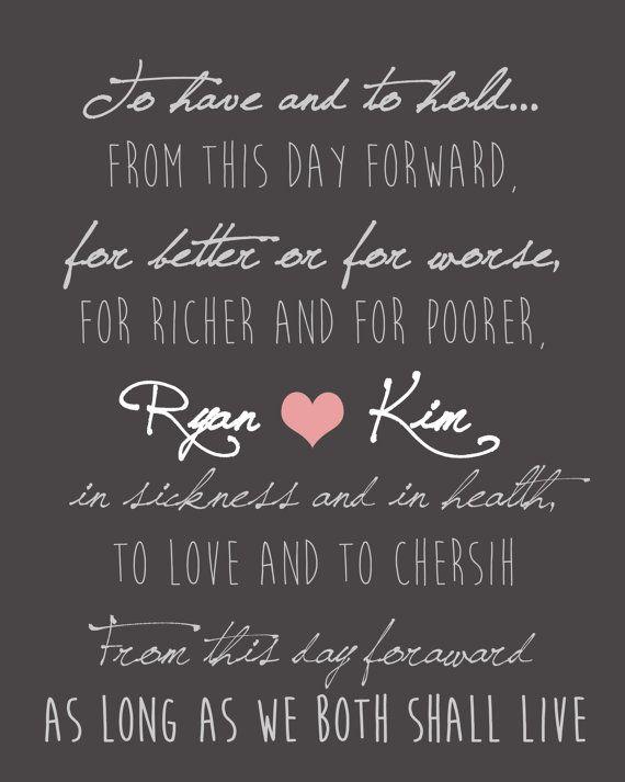 Custom Wedding Vows Printable INSTANT by TheWonderlandWedding
