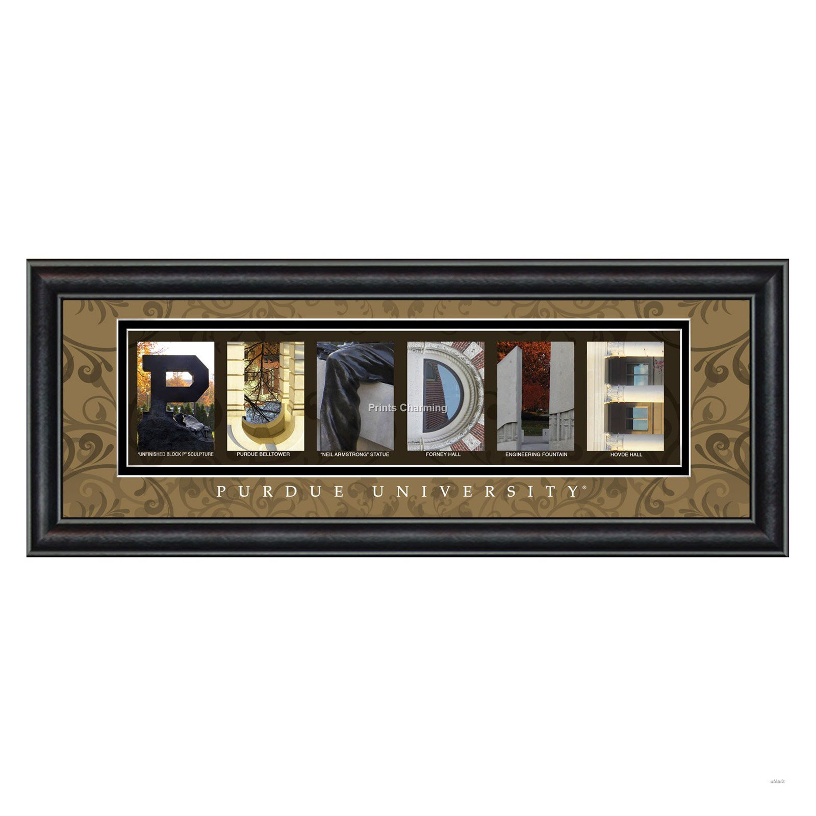 College Letter Framed Wall Art Purdue University 20w X 8h In Letter Wall Art Letter Art Framed Art