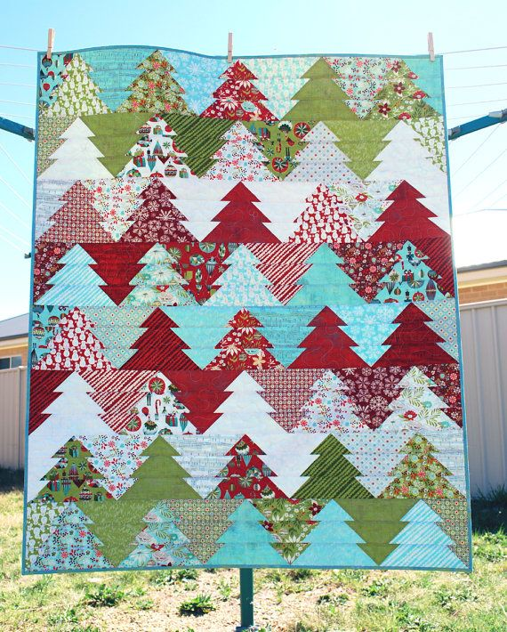 Zigzag Christmas Tree Quilt Pattern Pdf Wander Through The