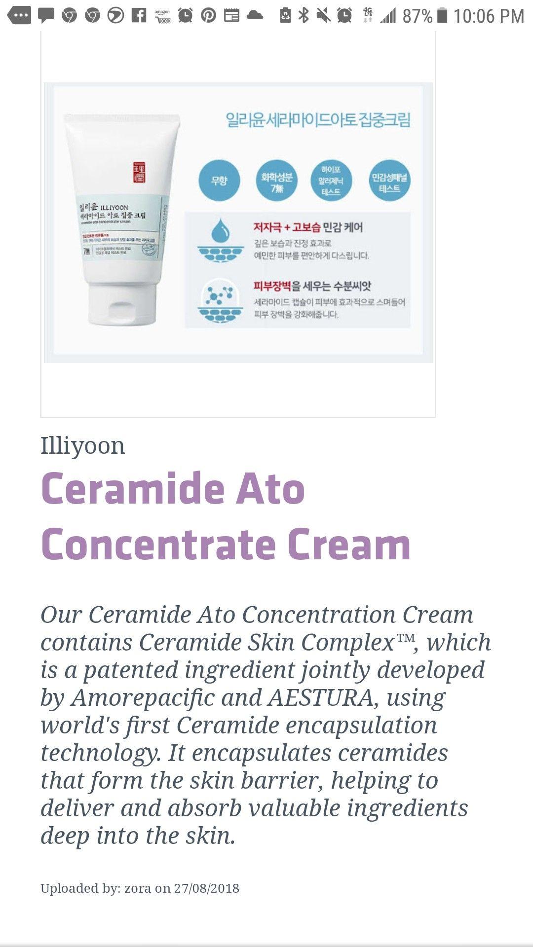 Ceramide Auto Concetrate Cream Ceramides Polysorbate 20 Skincare Ingredients
