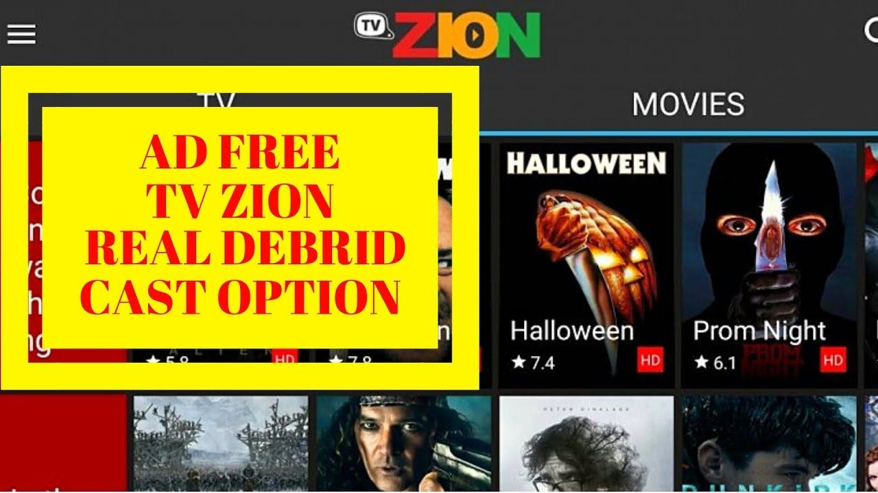TV Zion apk V3.1 stable 2018 Movies and TV Shows ad free