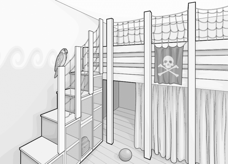 Hochbett De Luxe Diy Absturzsicherung Und Stauraumtreppe Bett1 De In 2020 Hochbett Selber Bauen Hochbett Kleinkind Hochbett